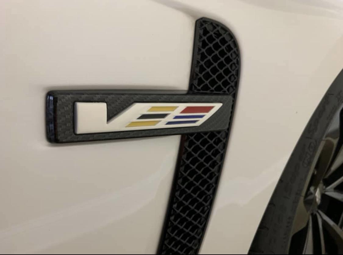 Cadillac 3rd Gen Emblem CTS-V ATS-V CT6-V Real Carbon Fiber License Plate Frame