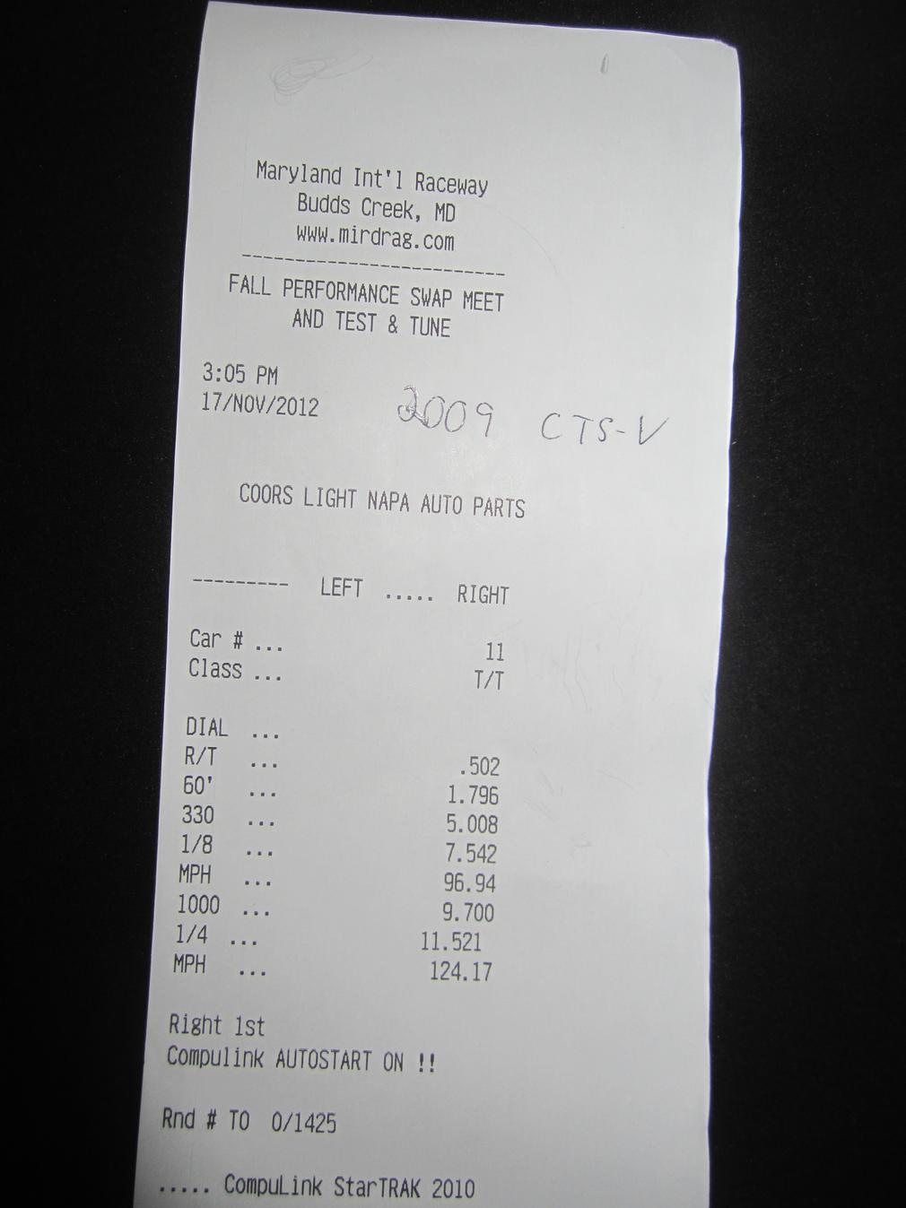CTS-V 1/4 mile times!! - UPDATED-timeslip.jpg